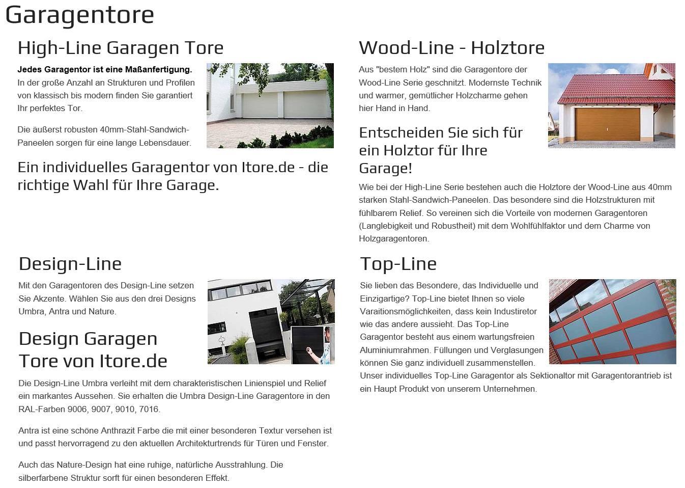 Tore für Garagen für  Gräfendorf   und  Wittighausen, Grünsfeld, Königheim